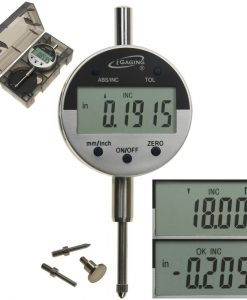 "iGaging Digital Electronic Indicator 0-1""/0.0005"" GAGE GAUGE w/ 4 Probes - Absolute and Hold Functions Inch/Metric conversion"